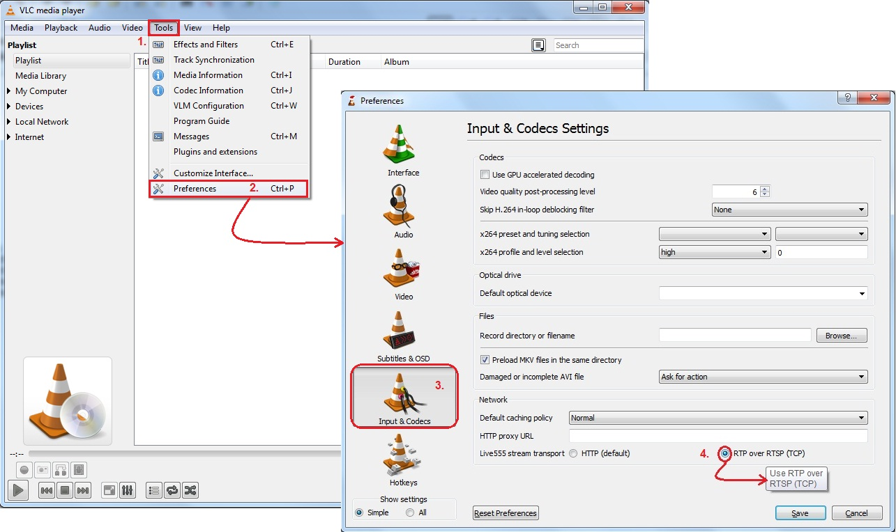 VLC Player - How to record video from 2N® IP Intercom - FAQ - 2N WIKI