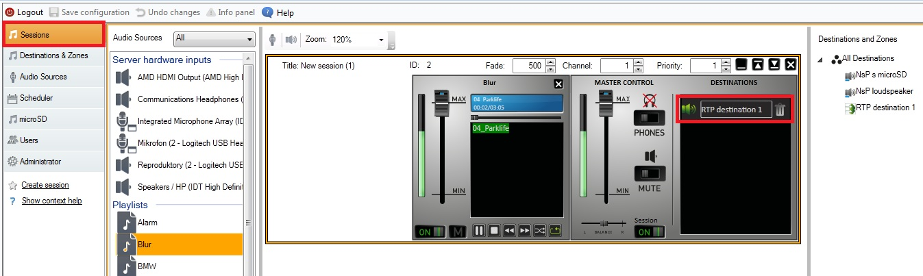 BARIX units with 2N® IP Audio Manager - streaming audio