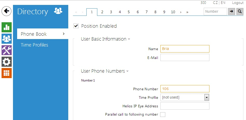 Bria softphone - How to configure it with 2N® Helios IP