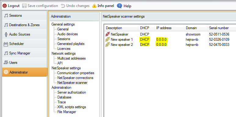 2N IP audio unit can not connect to the 2N® IP Audio Manager - what