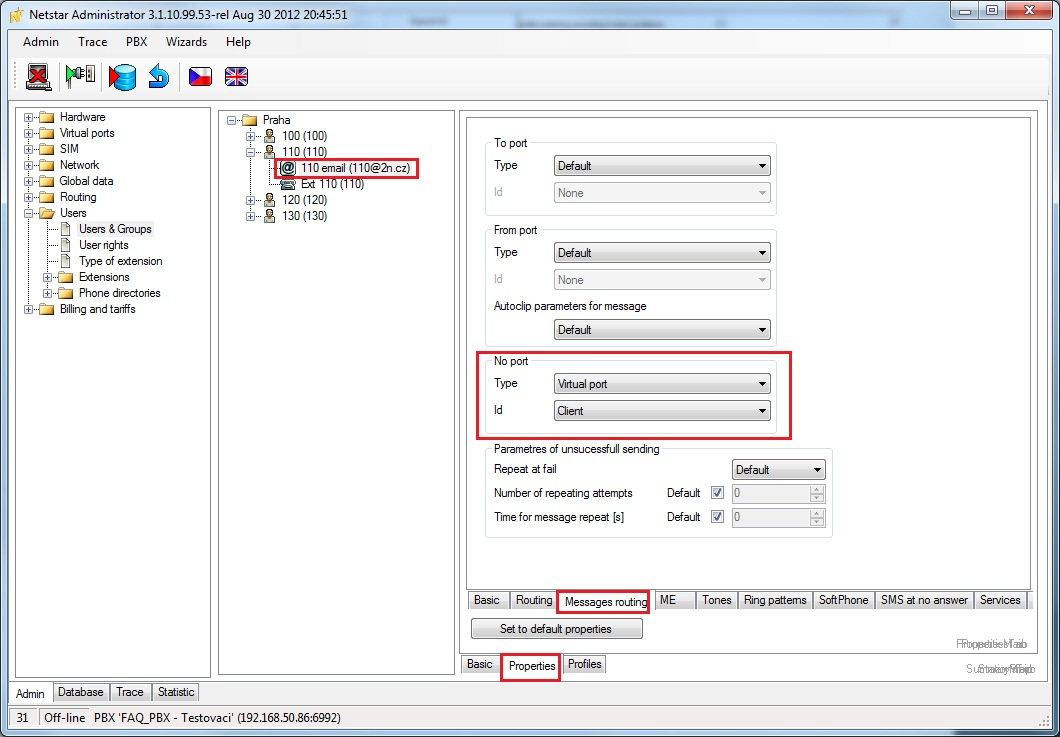VoiceMail to Email - How to set it in 2N®NetStar - FAQ - 2N WIKI