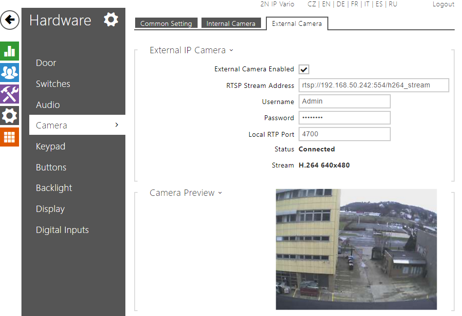 External IP camera - How to set it in 2N® IP Intercom - FAQ