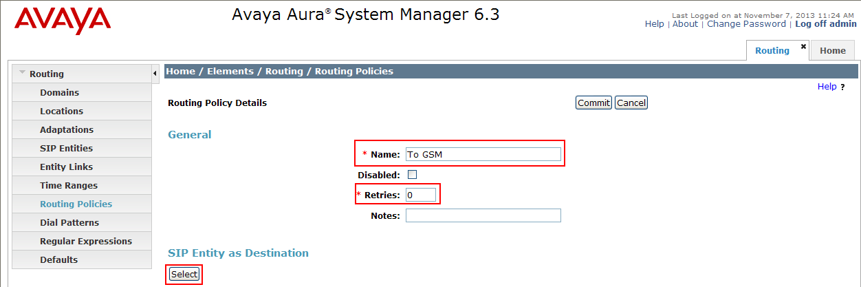 How to interconnect with Avaya Aura Communication Manager