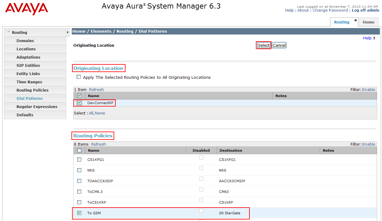 How to interconnect with Avaya Aura Communication Manager using SIP