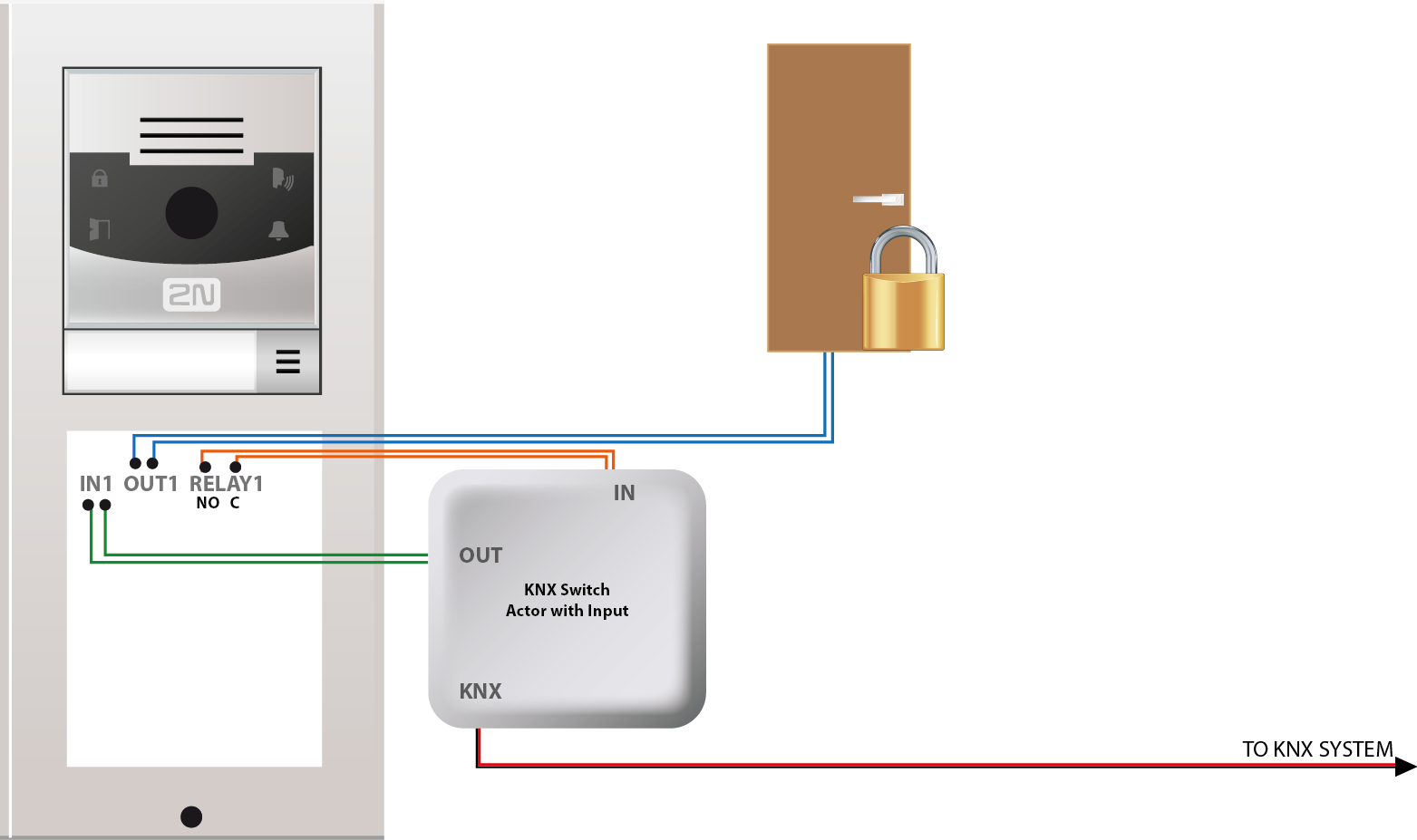 Helios 2n Wiring Diagram Small Appliance Knx Connection Of The Ip Intercom And System Faq Wiki A Kit For Ford 2000 Tractor