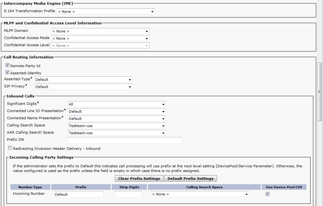 CUCM 11 - How to connect 2N® Helios IP via SIP trunk? - FAQ