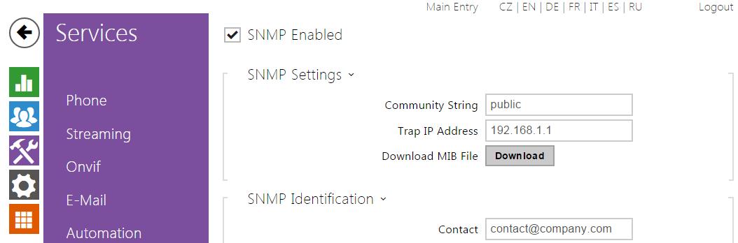 5 4 10 SNMP - 2N Helios IP Configuration Manual (version