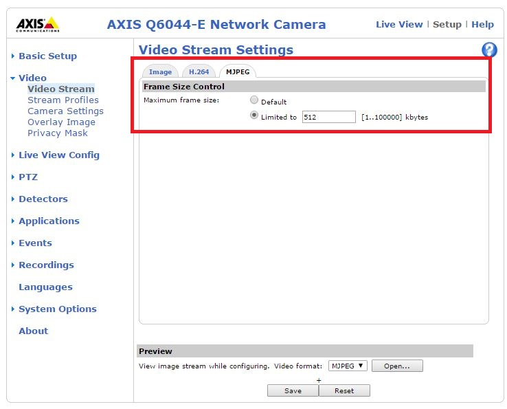 AXIS Q6044-E PTZ Dome Network Camera - How to connect external AXIS