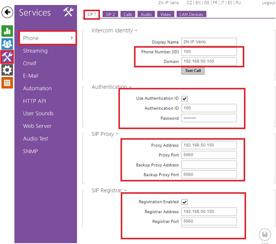 SIP Proxy - How to register 2N IP Intercom to 2N® Netstar or