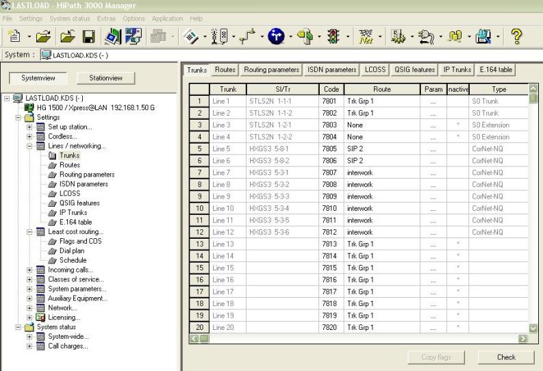 Siemens hipath 3000 interconnection with siemens hipath 3000.